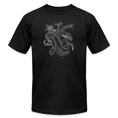 Fantasy white scribblesirii - Unisex Jersey T-Shirt by Bella + Canvas