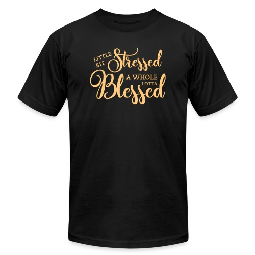 STRESSED & BLESSED - Unisex Jersey T-Shirt by Bella + Canvas
