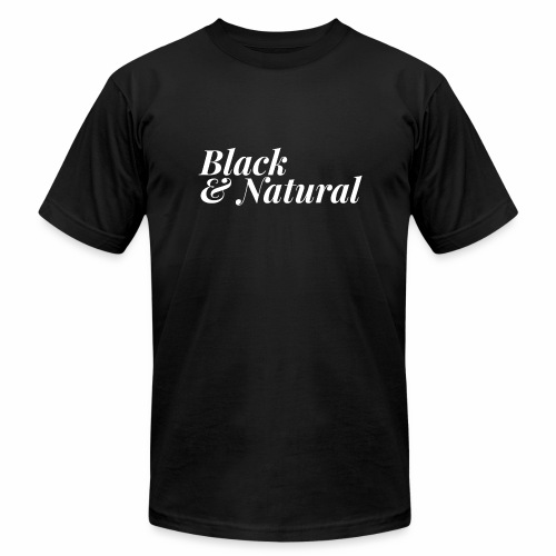 Black & Natural Women's - Unisex Jersey T-Shirt by Bella + Canvas
