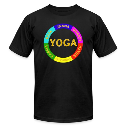 6 ways of Yoga - Unisex Jersey T-Shirt by Bella + Canvas
