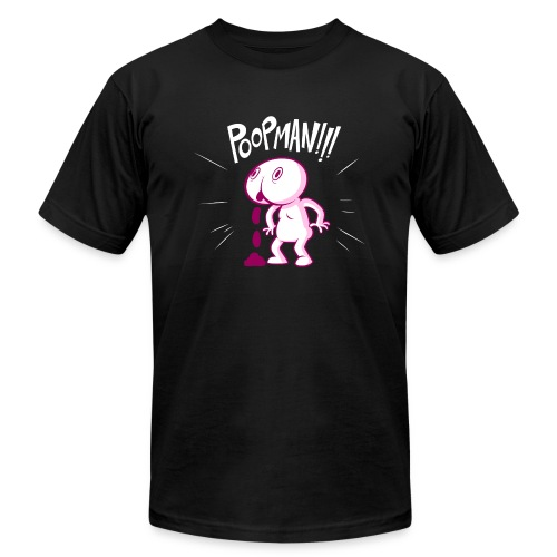 POOPMAN0CHICKS png - Unisex Jersey T-Shirt by Bella + Canvas