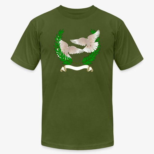 OLIVE BRANCH DOVES - Unisex Jersey T-Shirt by Bella + Canvas