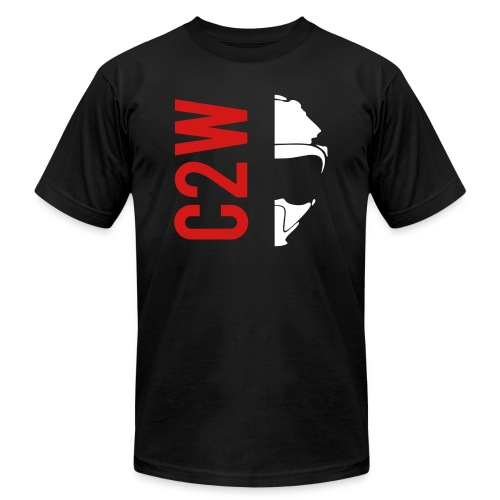 ChaseOnTwoWheels Split Logo - Unisex Jersey T-Shirt by Bella + Canvas