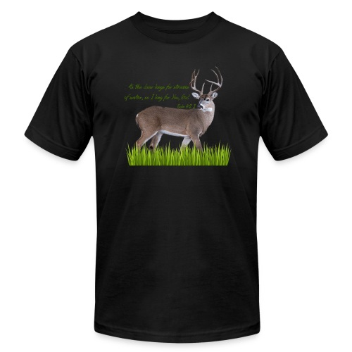 As the Deer - Unisex Jersey T-Shirt by Bella + Canvas