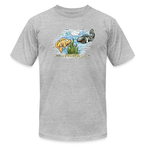 when clownfishes meet - Unisex Jersey T-Shirt by Bella + Canvas