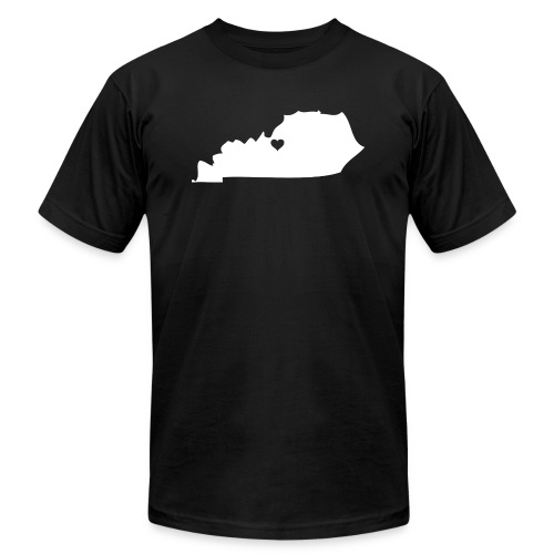 Kentucky Silhouette Heart - Unisex Jersey T-Shirt by Bella + Canvas