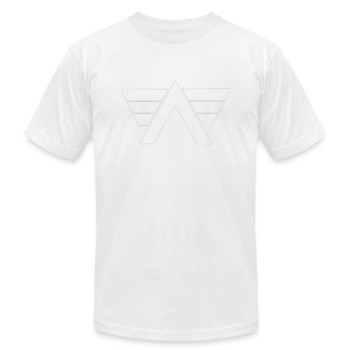 Bordeaux Sweater White AeRo Logo - Unisex Jersey T-Shirt by Bella + Canvas