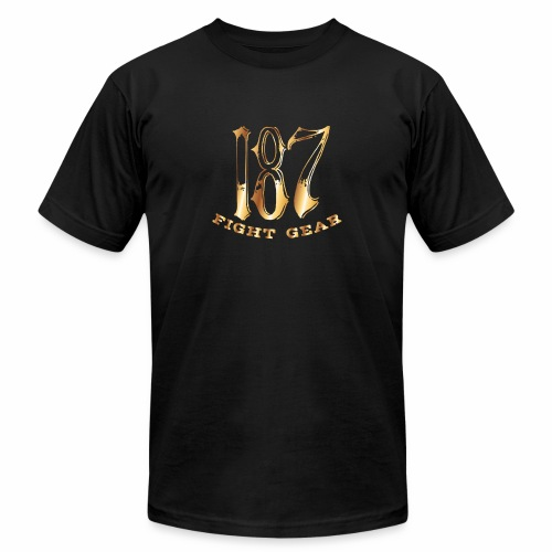 187 Fight Gear Gold Logo Sports Gear - Unisex Jersey T-Shirt by Bella + Canvas