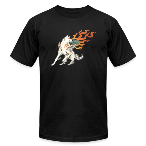 Fire wolf - Unisex Jersey T-Shirt by Bella + Canvas