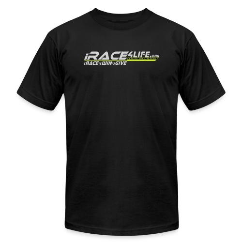 iRace4Life.org Gray Logo w/ iRace-iWin-iGive! - Men's Fine Jersey T-Shirt