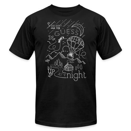 Up at Night Design - Unisex Jersey T-Shirt by Bella + Canvas