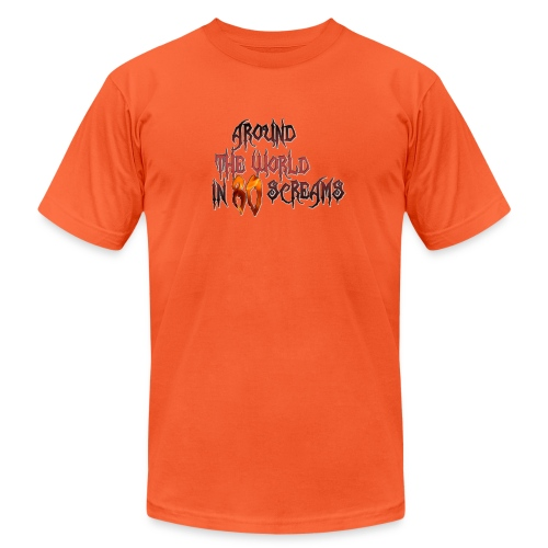 Around The World in 80 Screams - Unisex Jersey T-Shirt by Bella + Canvas