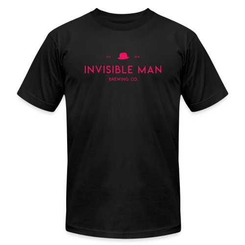 Invisible Man Pink Logo - Unisex Jersey T-Shirt by Bella + Canvas