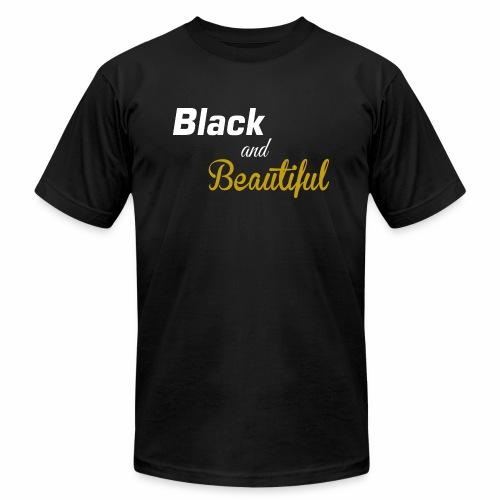 Black & Beautiful Long Sleeve Shirt - Unisex Jersey T-Shirt by Bella + Canvas