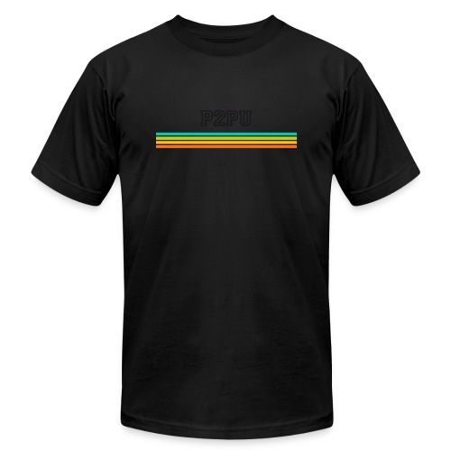 striped mug black logo png - Unisex Jersey T-Shirt by Bella + Canvas