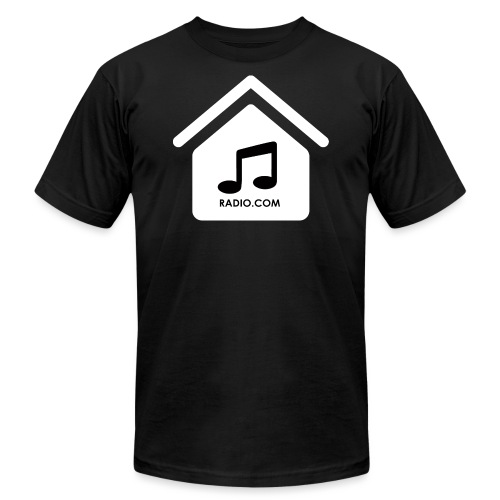 House Music Radio White black font no out line.png - Unisex Jersey T-Shirt by Bella + Canvas