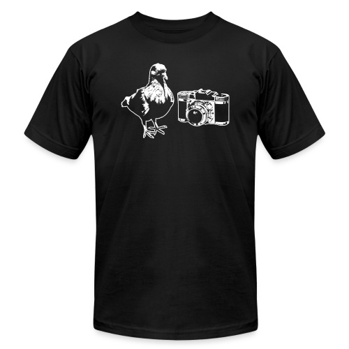 Pigeon Camera White - Unisex Jersey T-Shirt by Bella + Canvas