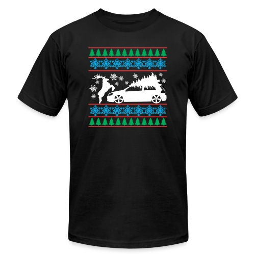 MK6 GTI Ugly Christmas Sweater - Unisex Jersey T-Shirt by Bella + Canvas