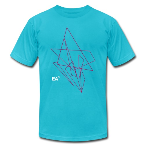 T Shirt EA3Triangles11 Bl - Unisex Jersey T-Shirt by Bella + Canvas