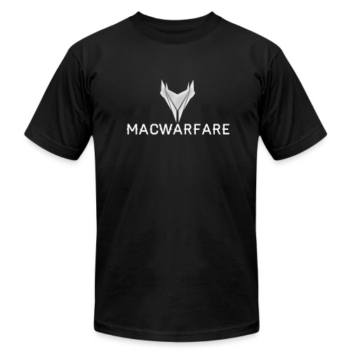 MacWarfare Channel Logo - Unisex Jersey T-Shirt by Bella + Canvas