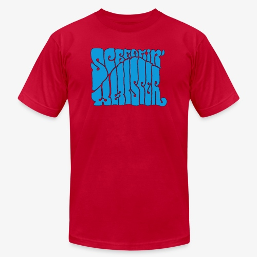 Screamin' Whisper Retro Logo - Men's  Jersey T-Shirt