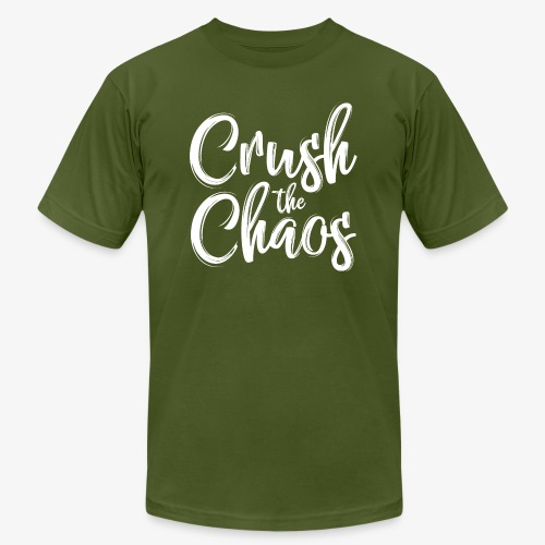 Crush the Chaos - Black & White - Unisex Jersey T-Shirt by Bella + Canvas