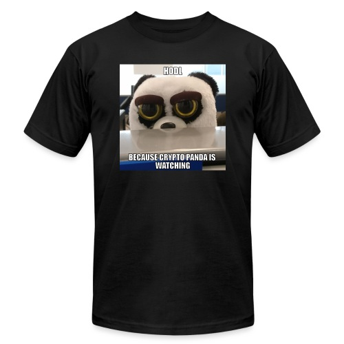 Crypto Panda Is Watching - Unisex Jersey T-Shirt by Bella + Canvas