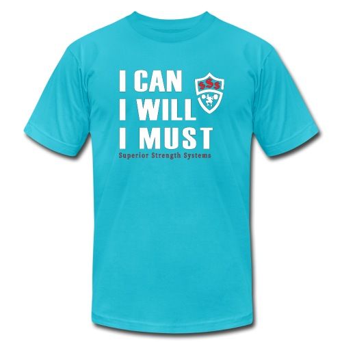 I can I will I must - Unisex Jersey T-Shirt by Bella + Canvas