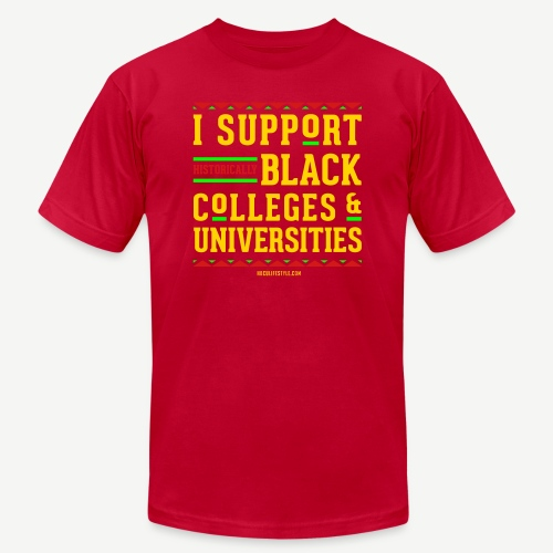 I Support HBCUs - Unisex Jersey T-Shirt by Bella + Canvas