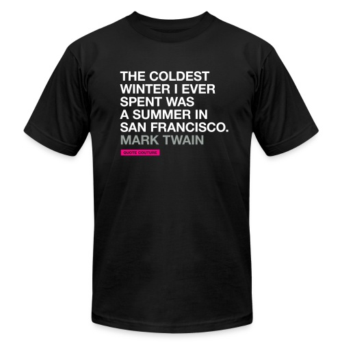 The coldest winter (men -- bags -- big) - Unisex Jersey T-Shirt by Bella + Canvas