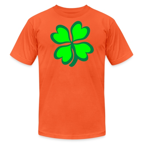 4 leaf clover - Unisex Jersey T-Shirt by Bella + Canvas