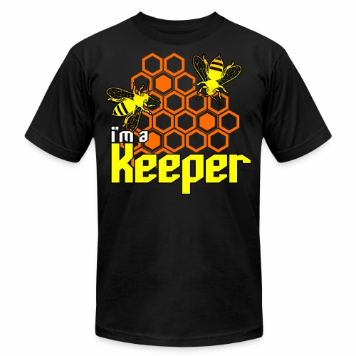 I'm A Keeper Beekeeper Design Honeycomb Bees - Unisex Jersey T-Shirt by Bella + Canvas