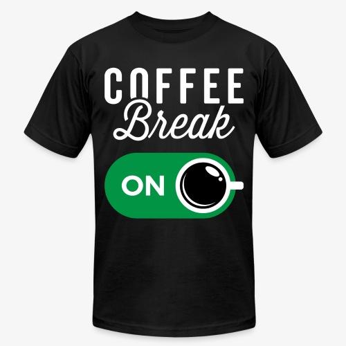 Coffee Break On - Unisex Jersey T-Shirt by Bella + Canvas