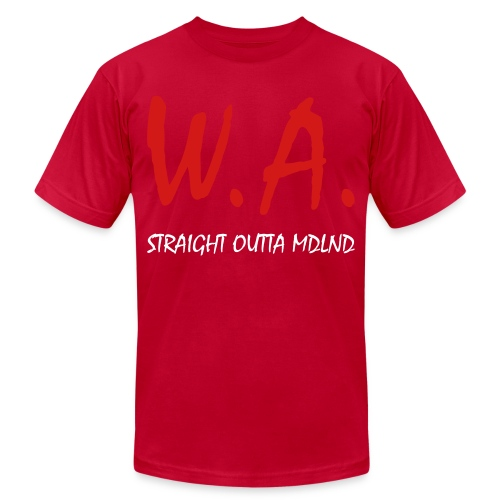 Straight Outta MDLND - Unisex Jersey T-Shirt by Bella + Canvas
