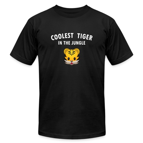 Coolest Tiger Hoodie - Unisex Jersey T-Shirt by Bella + Canvas