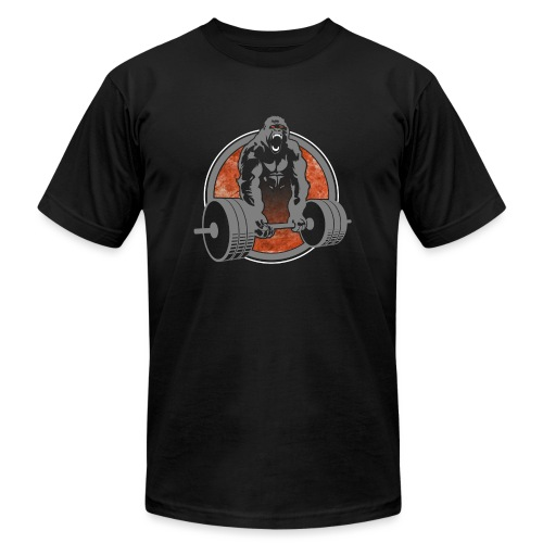 Gorilla Lifting Weightlifting - Unisex Jersey T-Shirt by Bella + Canvas