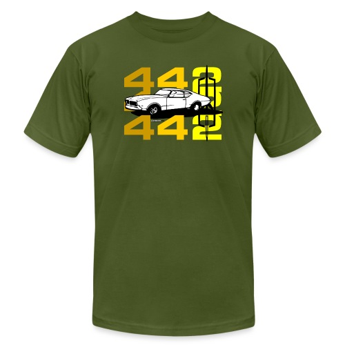 auto_oldsmobile_442_002a - Unisex Jersey T-Shirt by Bella + Canvas