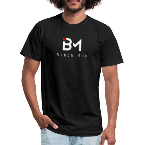 Bench Mob Logo (white) - Unisex Jersey T-Shirt by Bella + Canvas