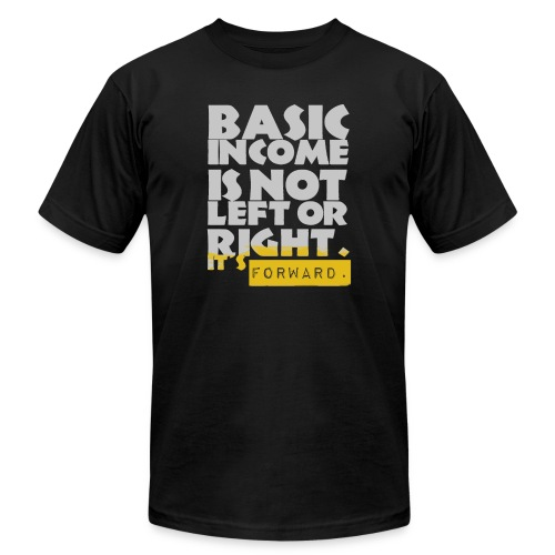 UBI is not Left or Right - Unisex Jersey T-Shirt by Bella + Canvas