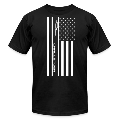 Challenger American Flag - Men's  Jersey T-Shirt