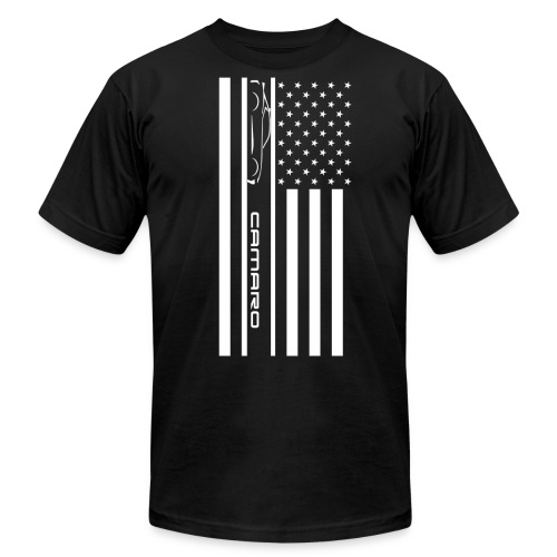 Camaro American Flag - Men's  Jersey T-Shirt
