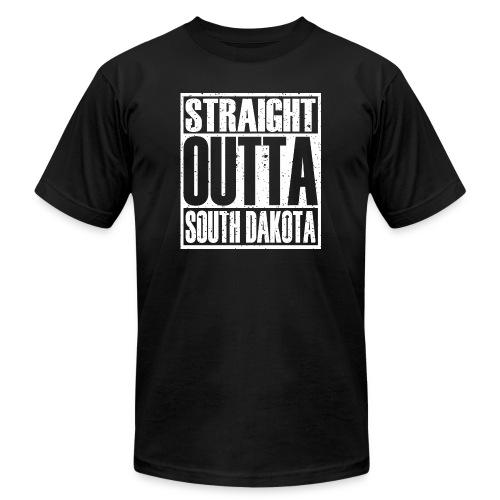 Straight Outta South Dakota - Unisex Jersey T-Shirt by Bella + Canvas