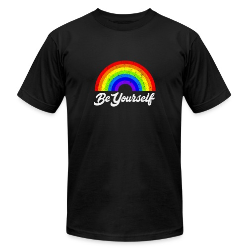Be Yourself Pride Tee - Unisex Jersey T-Shirt by Bella + Canvas