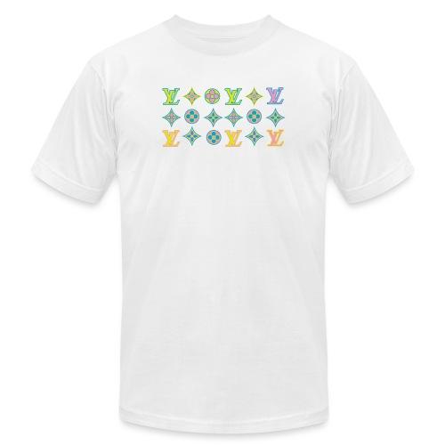 custom coloured LV pattern. - Unisex Jersey T-Shirt by Bella + Canvas