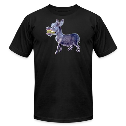 Funny Keep Smiling Donkey - Unisex Jersey T-Shirt by Bella + Canvas