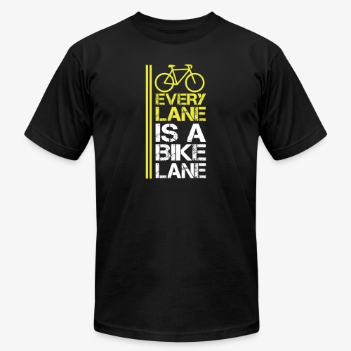 Every lane is a bike lane - Unisex Jersey T-Shirt by Bella + Canvas