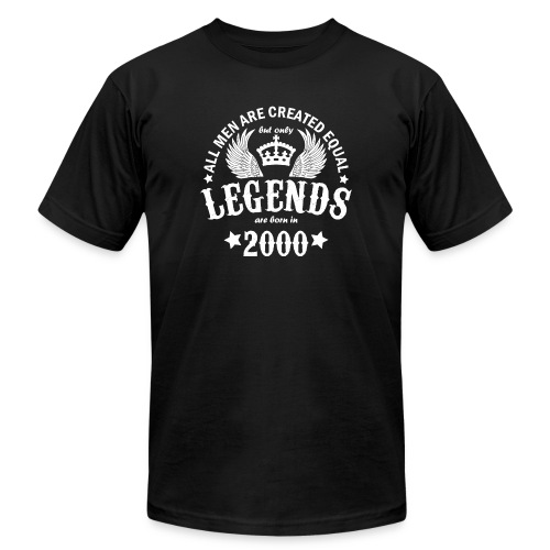 Legends are Born in 2000 - Unisex Jersey T-Shirt by Bella + Canvas
