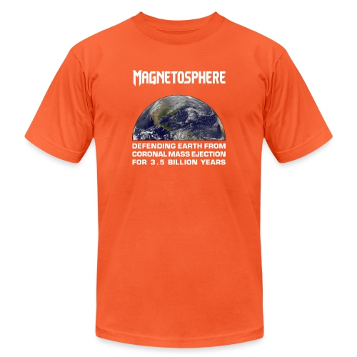 Magnetosphere Defending from Coronal Mass Ejection - Unisex Jersey T-Shirt by Bella + Canvas