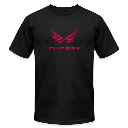 Red Born Wonderful Logo - Unisex Jersey T-Shirt by Bella + Canvas