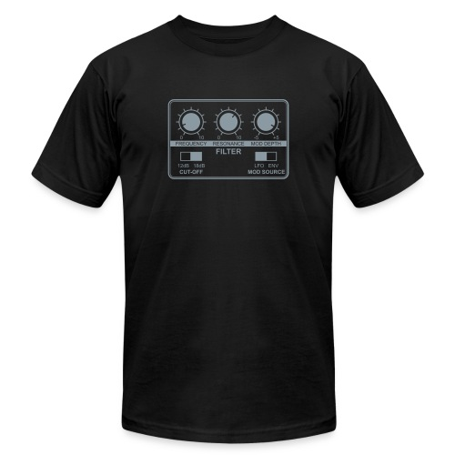 Synth Filter with Knobs - Unisex Jersey T-Shirt by Bella + Canvas